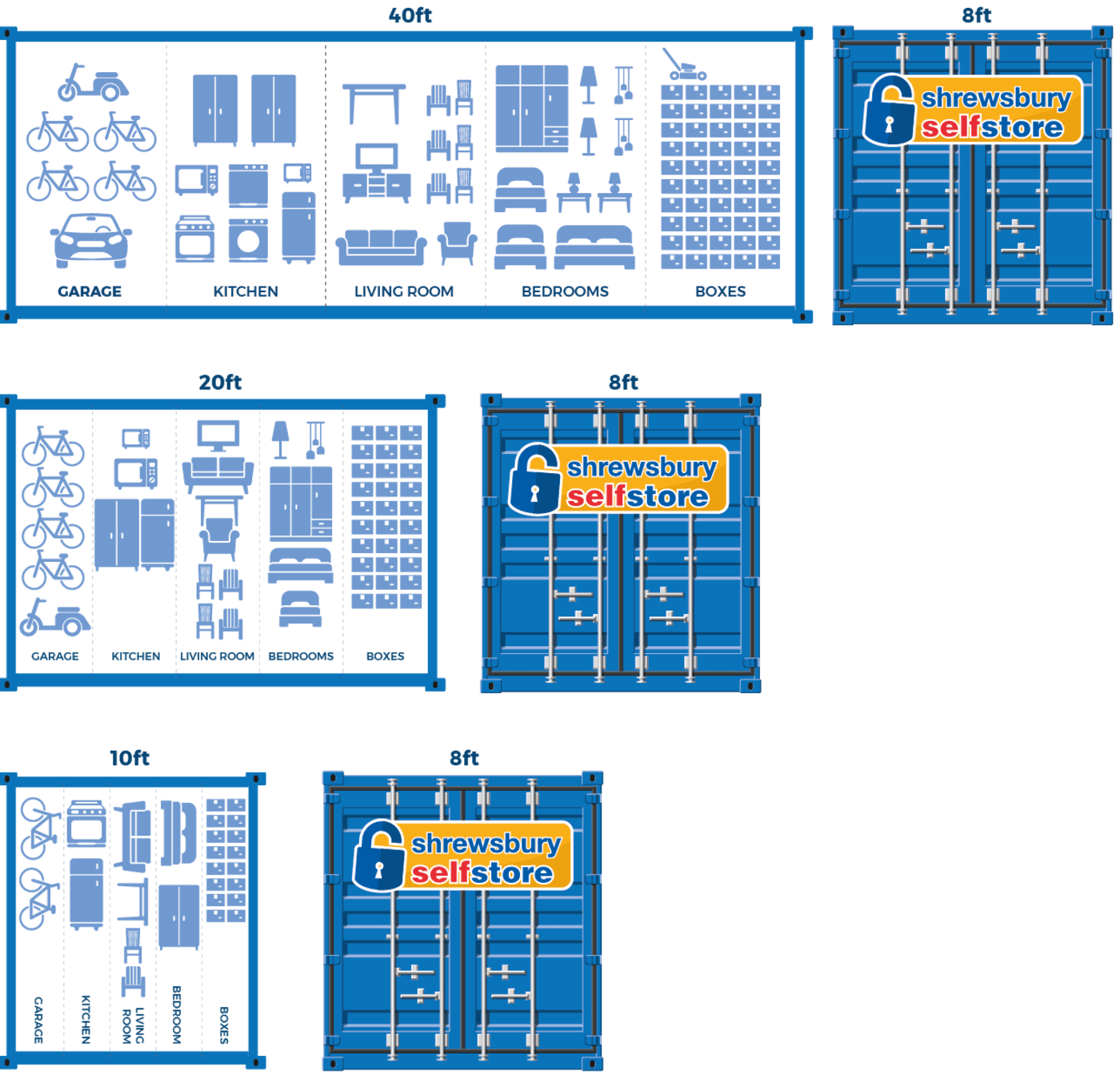 Household Self Storage Containers
